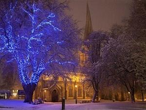 Chesterfield, peak district, christmas lights