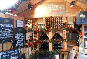 Bath Xmas market Gascoyne Place for festive drinks